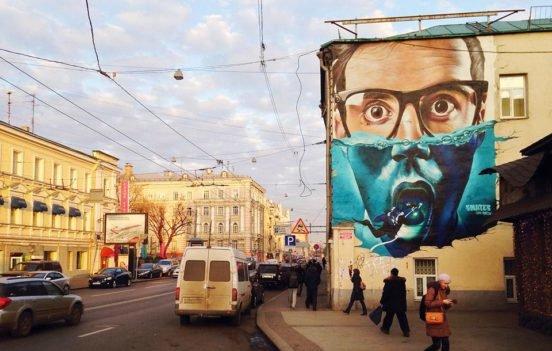 Картинки по запросу фасады домов с рекламными граффити