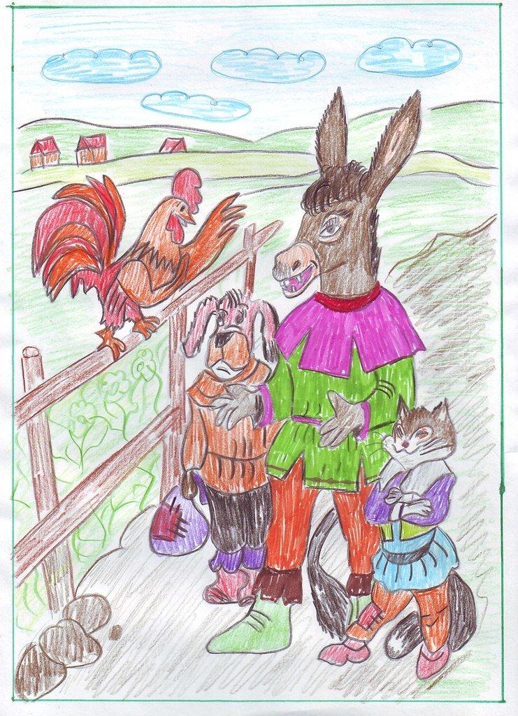 Детские рисунки братьев гримм