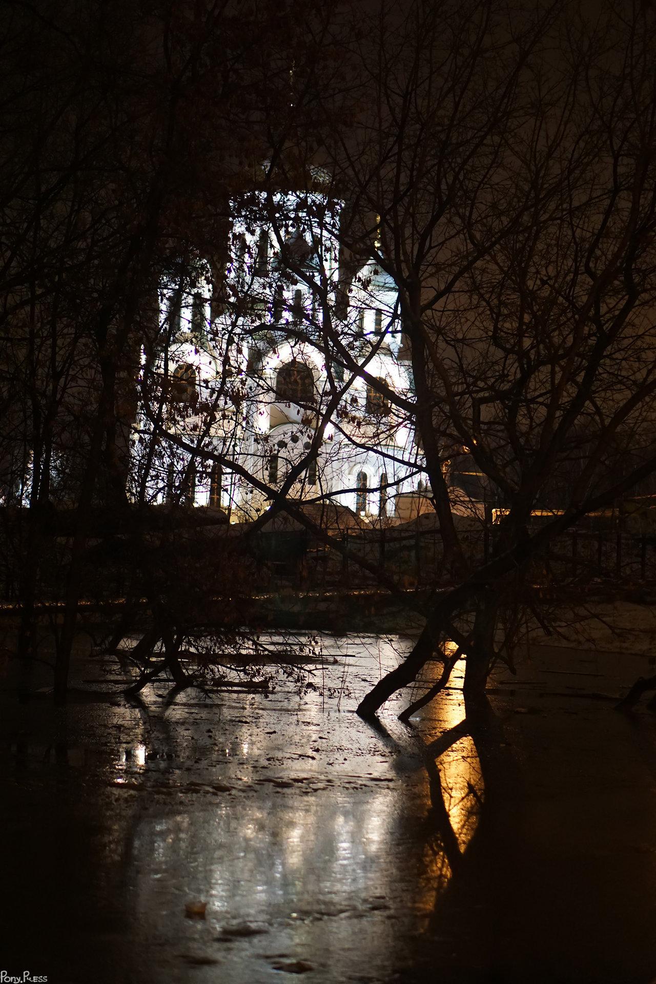 Вид на церковь Сергия Радонежского в Солнцево