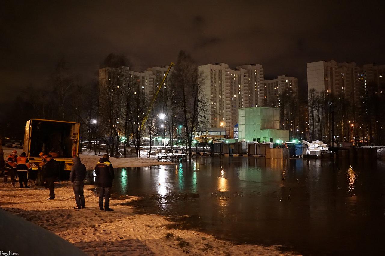 Стройка метро в Солнцево затоплена