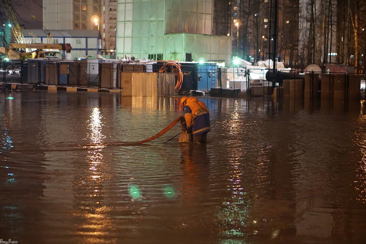 Ликвидация потопа в Солнцево